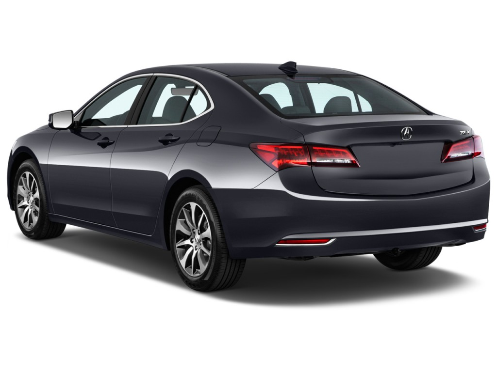 2015 acura tlx 4 door sedan fwd tech angular rear exterior view. Black Bedroom Furniture Sets. Home Design Ideas