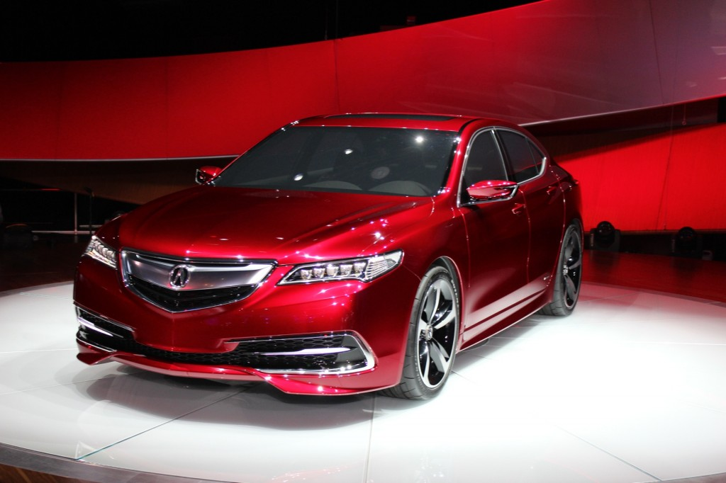 2015 acura tlx prototype 2014 detroit auto show live photos. Black Bedroom Furniture Sets. Home Design Ideas