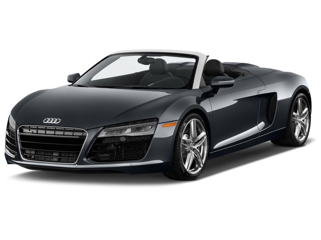 image 2015 audi r8 2 door convertible auto quattro spyder v8 angular front exterior view size. Black Bedroom Furniture Sets. Home Design Ideas