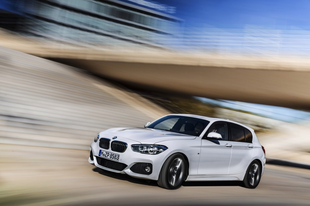 2015 bmw 1 series hatchback equipped with m sport package. Black Bedroom Furniture Sets. Home Design Ideas