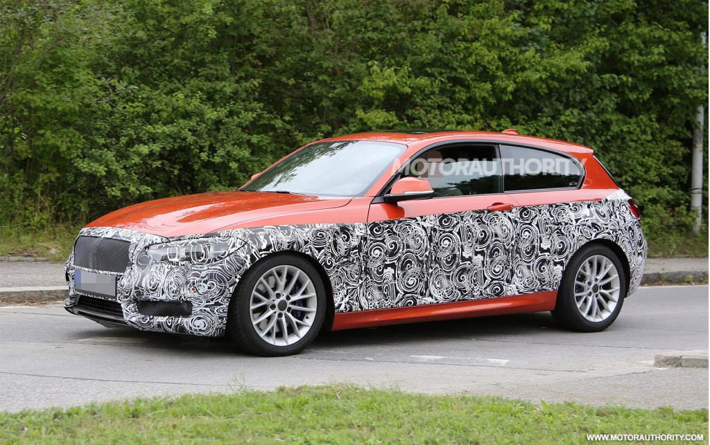 2015 bmw 1 series hatchback spy shots with interior. Black Bedroom Furniture Sets. Home Design Ideas