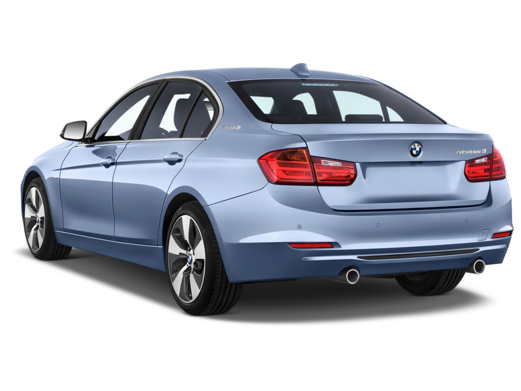 2015 bmw 3 series 4 door sedan activehybrid 3 angular rear exterior view. Black Bedroom Furniture Sets. Home Design Ideas