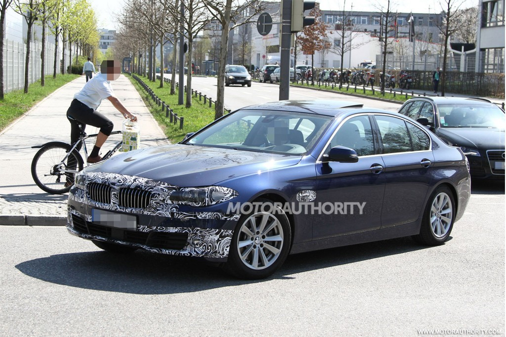 2014 bmw 5 series spy shots. Black Bedroom Furniture Sets. Home Design Ideas