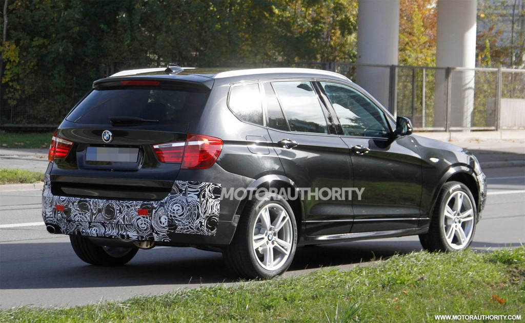 2015 bmw x3 facelift spy shots. Black Bedroom Furniture Sets. Home Design Ideas