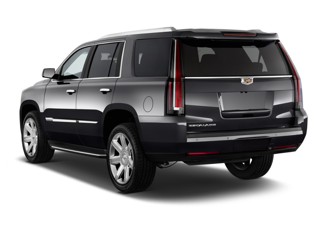 2015 cadillac escalade 4wd 4 door luxury angular rear exterior view. Black Bedroom Furniture Sets. Home Design Ideas