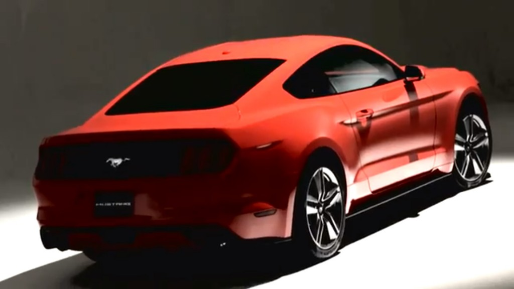 2015 ford mustang revealed with first 4 cylinder since autos post. Black Bedroom Furniture Sets. Home Design Ideas