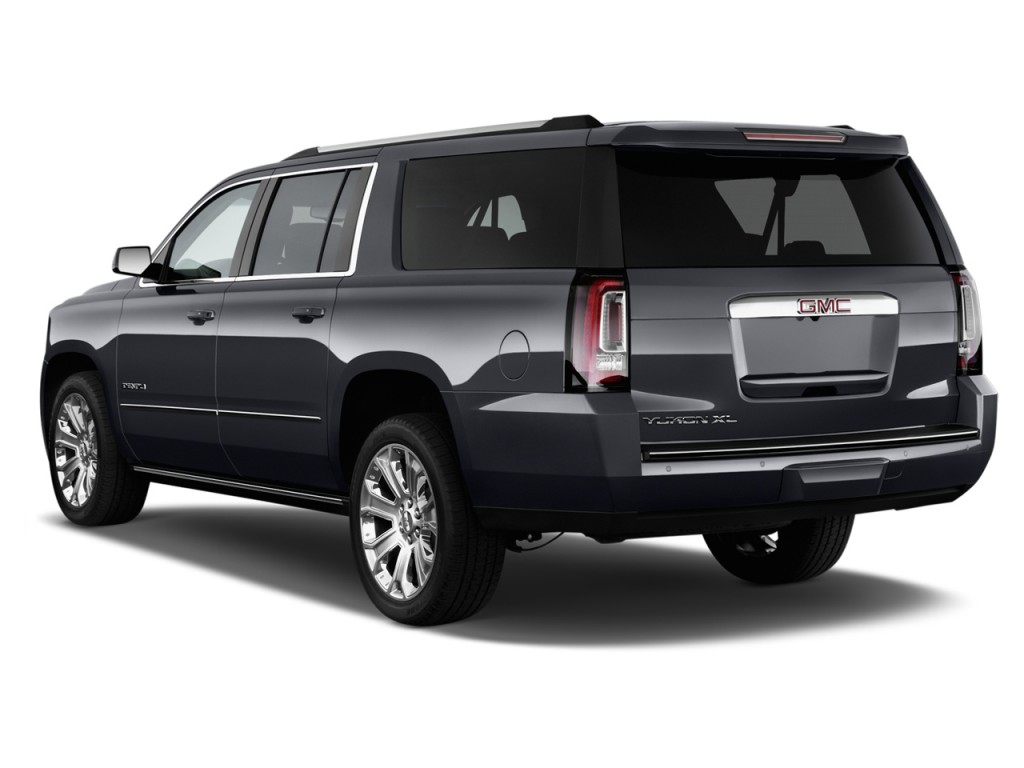 2015 gmc yukon xl 2wd 4 door denali angular rear exterior view. Black Bedroom Furniture Sets. Home Design Ideas