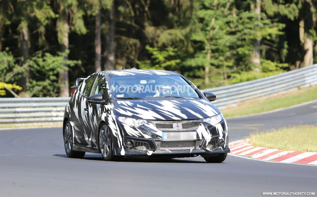 2015 honda civic type r spy shots and teaser video autos. Black Bedroom Furniture Sets. Home Design Ideas