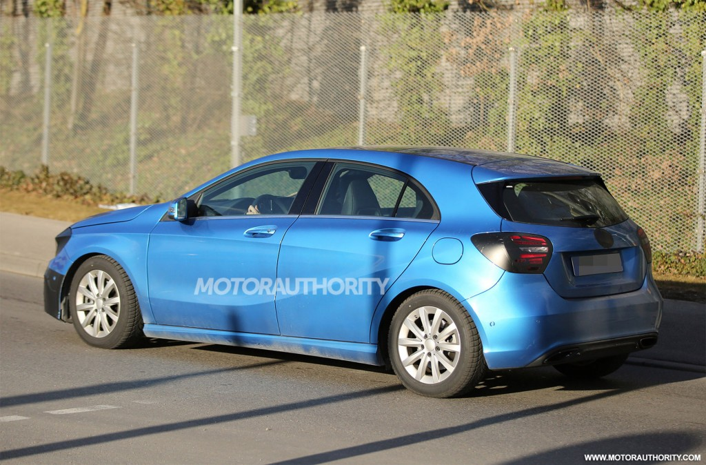2015 Mercedes-Benz A-Class facelift spy shots - Image via S. Baldauf/SB-Medien