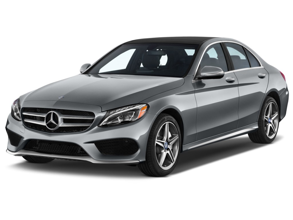 2015 Mercedes Benz C Class 4 Door Sedan C300 Sport Rwd Angular Front Exterior View