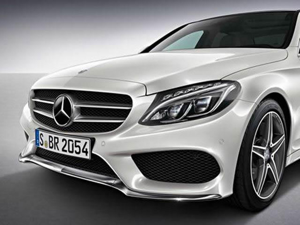 first look at amg styling pack for 2015 mercedes benz c class. Black Bedroom Furniture Sets. Home Design Ideas