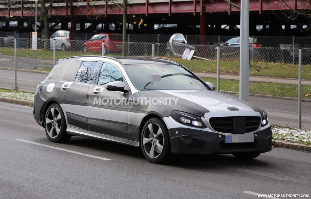 2015 mercedes benz c class wagon spy shots for New 2015 mercedes benz c class