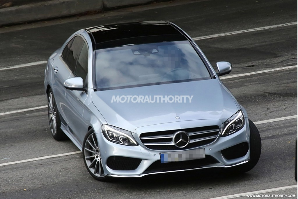 2015 mercedes benz c class completely revealed in new spy for Mercedes benz class 2015