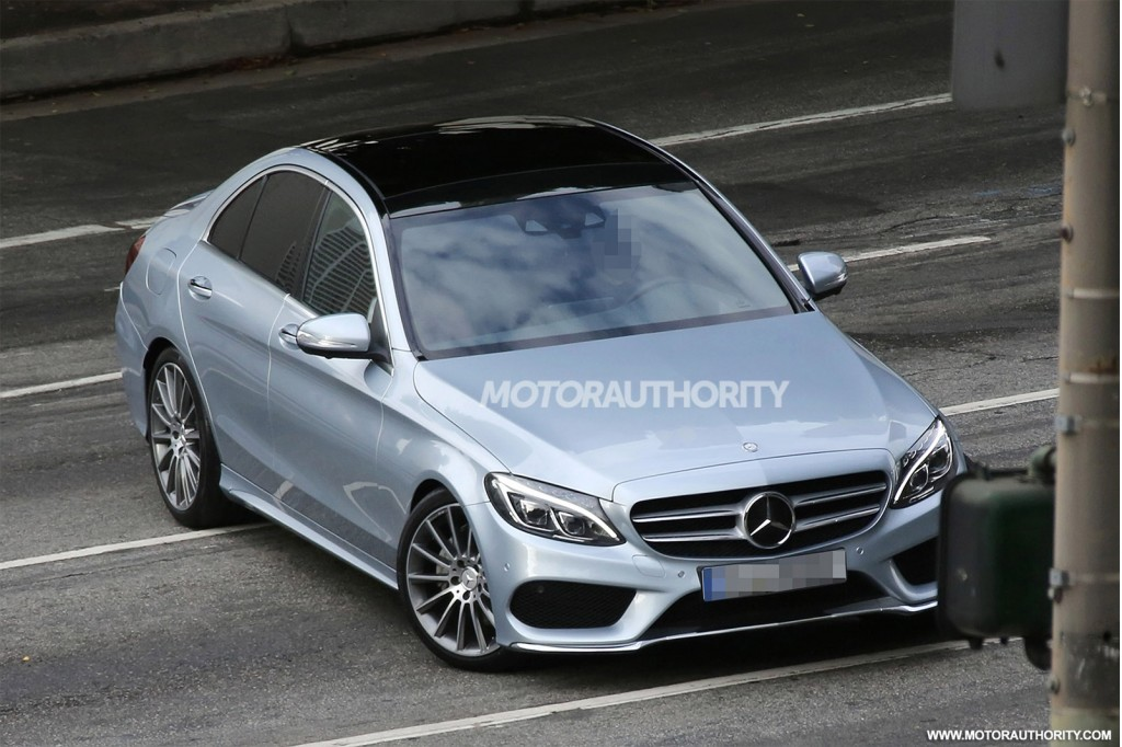 2015 mercedes benz c class completely revealed in new spy shots. Cars Review. Best American Auto & Cars Review