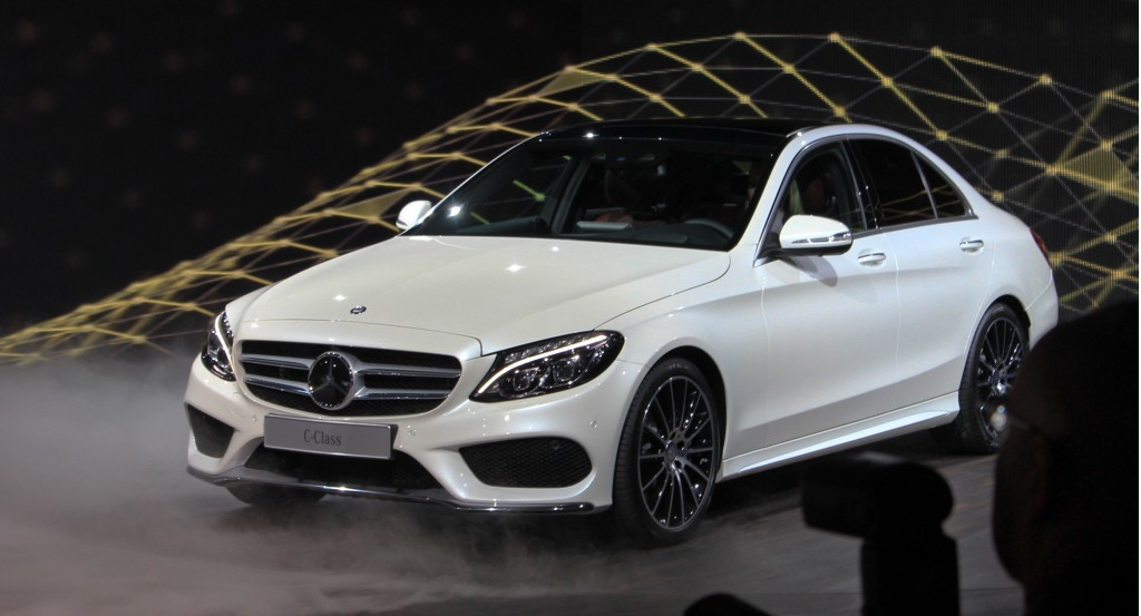 2015 mercedes benz c class live photos 2014 detroit auto show