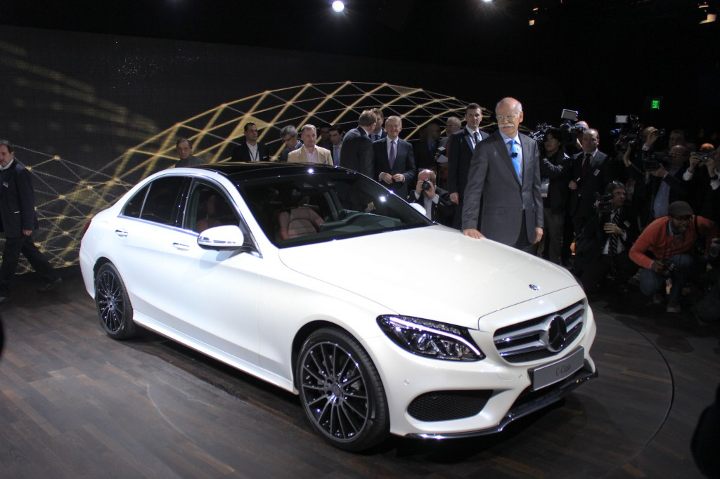 2015 mercedes benz c class first look video 2014 detroit auto show. Black Bedroom Furniture Sets. Home Design Ideas
