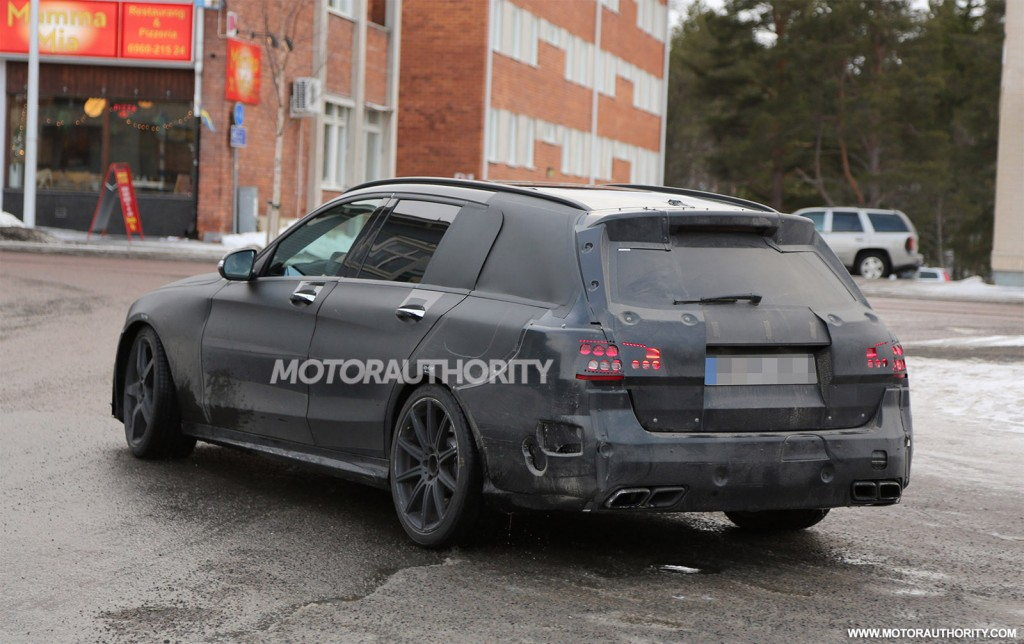 2015 mercedes benz c63 amg wagon spy shots. Black Bedroom Furniture Sets. Home Design Ideas