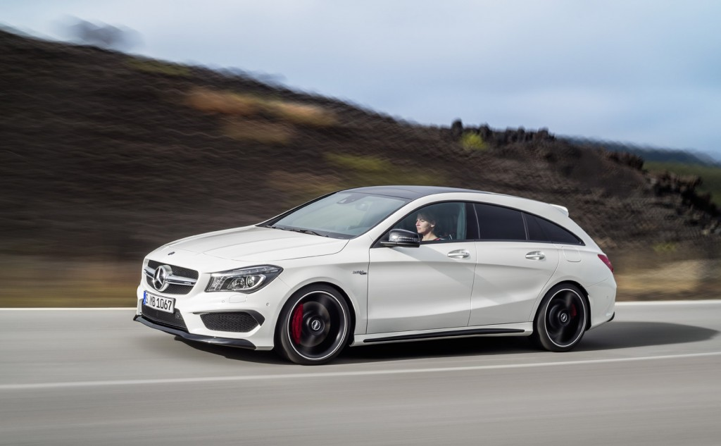 Mercedes benz reveals cla and cla45 amg shooting brake for Mercedes benz cla45 amg 0 60