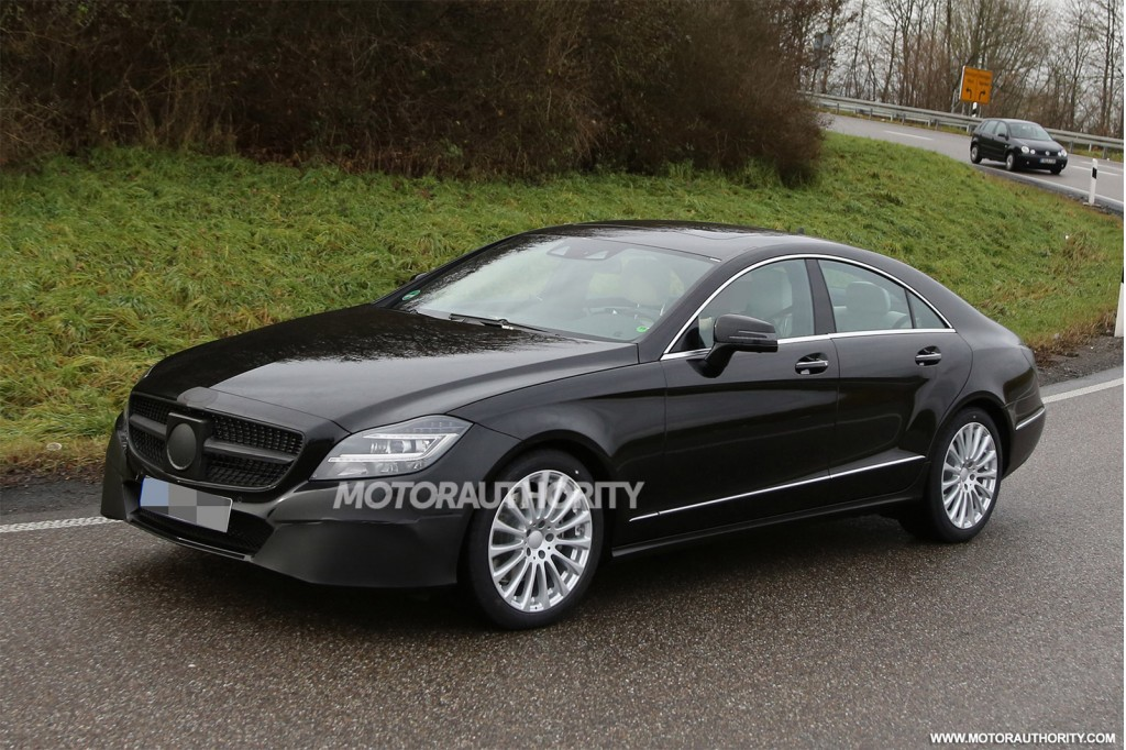 2015 mercedes benz cls class spy shots with interior for 2015 mercedes benz cl