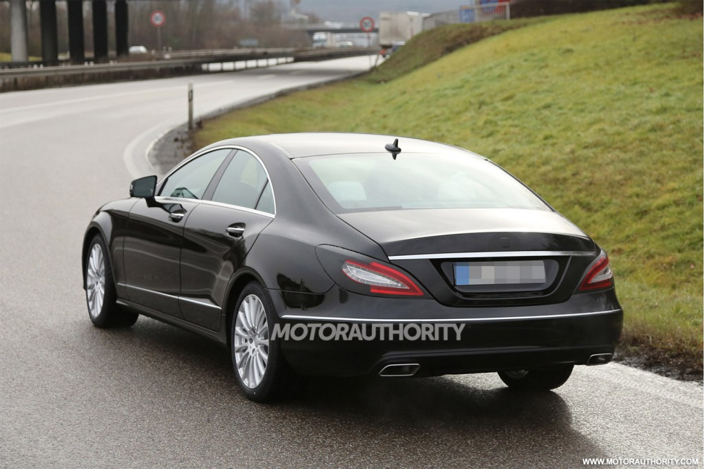 2015 mercedes benz cls class spy shots with interior. Black Bedroom Furniture Sets. Home Design Ideas