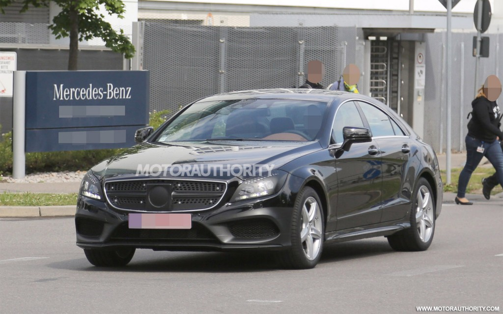 2015 mercedes benz cls class spy shots with interior for 2017 mercedes benz cls class length