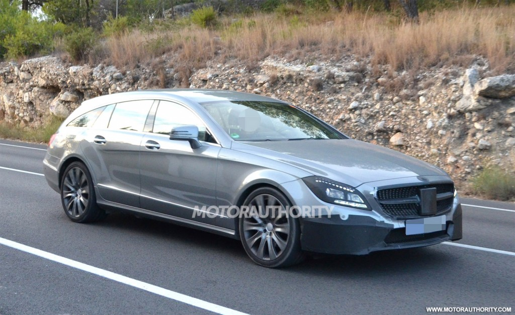 2015 mercedes benz cls shooting brake spy shots. Black Bedroom Furniture Sets. Home Design Ideas
