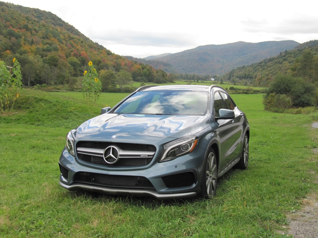 2015 mercedes benz gla45 amg first drive of compact hot hatch. Black Bedroom Furniture Sets. Home Design Ideas