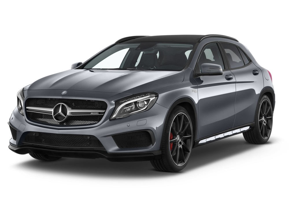 2015 mercedes benz gla class 4matic 4 door gla45 amg angular front exterior view. Black Bedroom Furniture Sets. Home Design Ideas