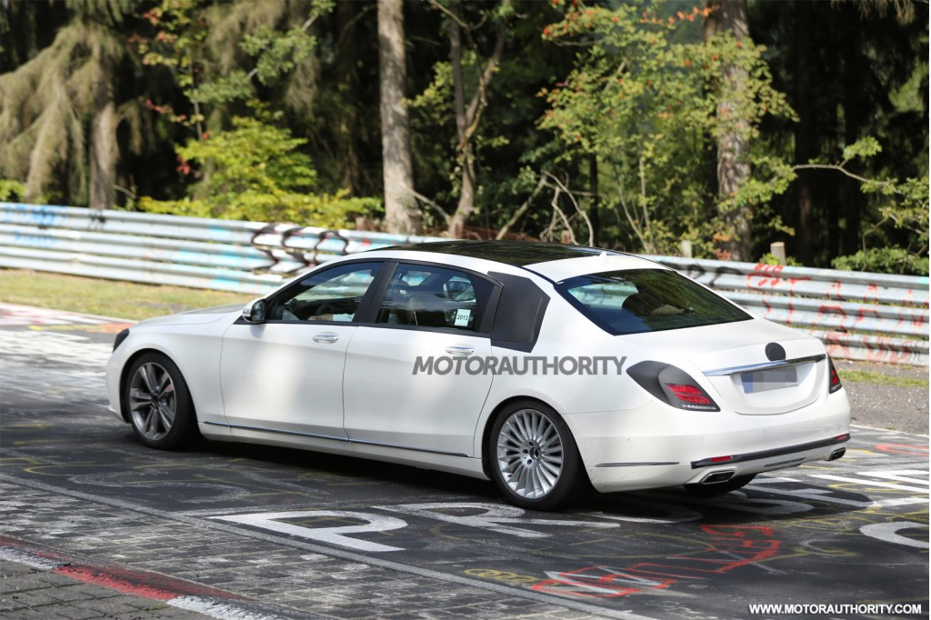 2015 mercedes benz s class maybach spy shots for Mercedes benz s550 maybach