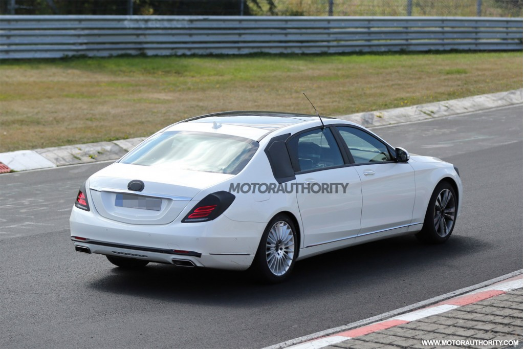 2015 mercedes benz s class maybach spy shots. Black Bedroom Furniture Sets. Home Design Ideas