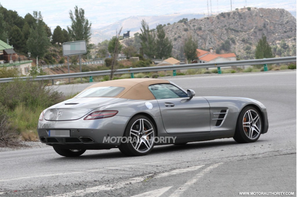 2015 mercedes benz sls amg gt roadster spy shots