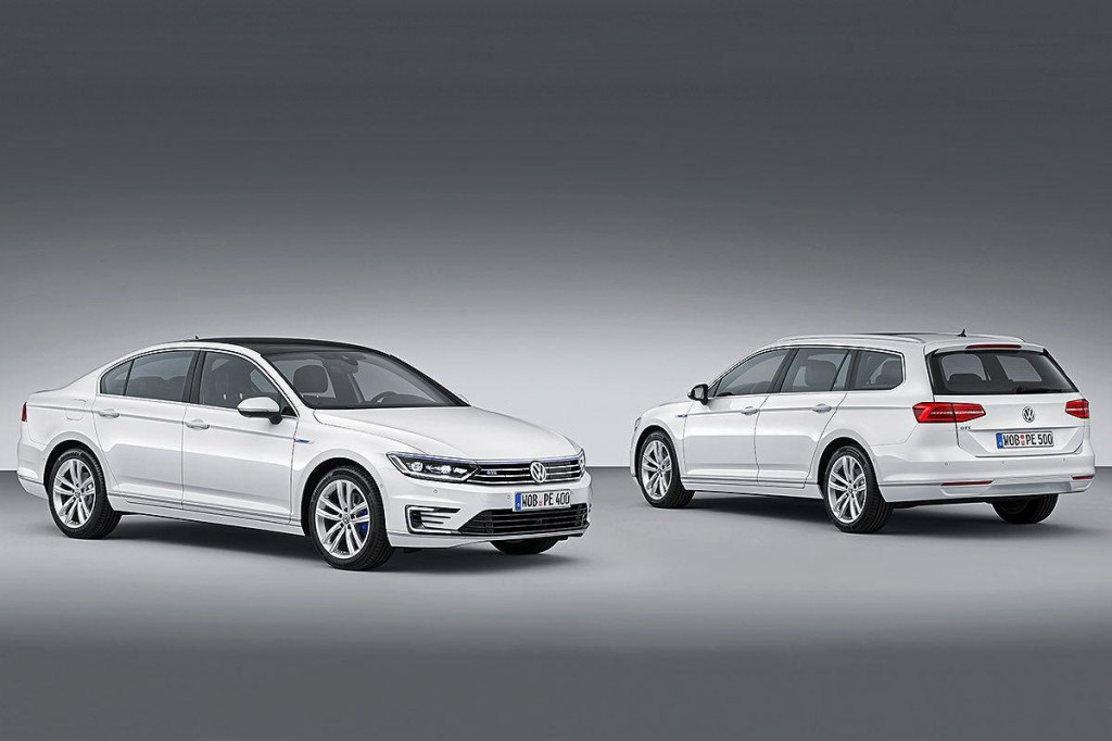 plug in hybrid volkswagen passat gte revealed ahead of paris auto show. Black Bedroom Furniture Sets. Home Design Ideas