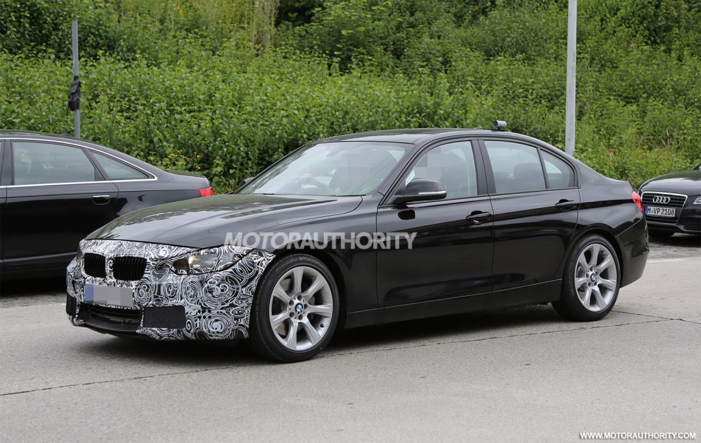 2016 bmw 3 series spy shots. Black Bedroom Furniture Sets. Home Design Ideas