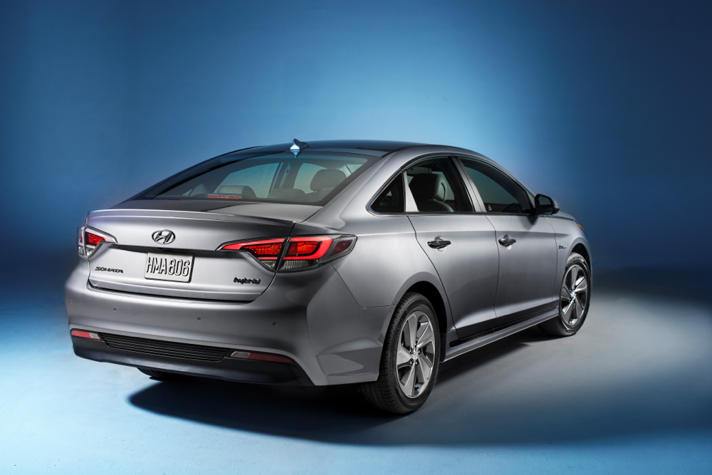 2016 hyundai sonata hybrid plug in hybrid debut at 2015 detroit auto show. Black Bedroom Furniture Sets. Home Design Ideas