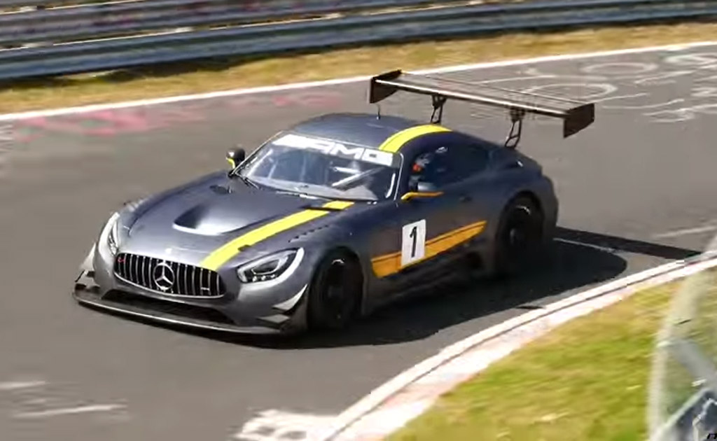 2016 mercedes amg gt3 hits the n rburgring video for Mercedes benz race car