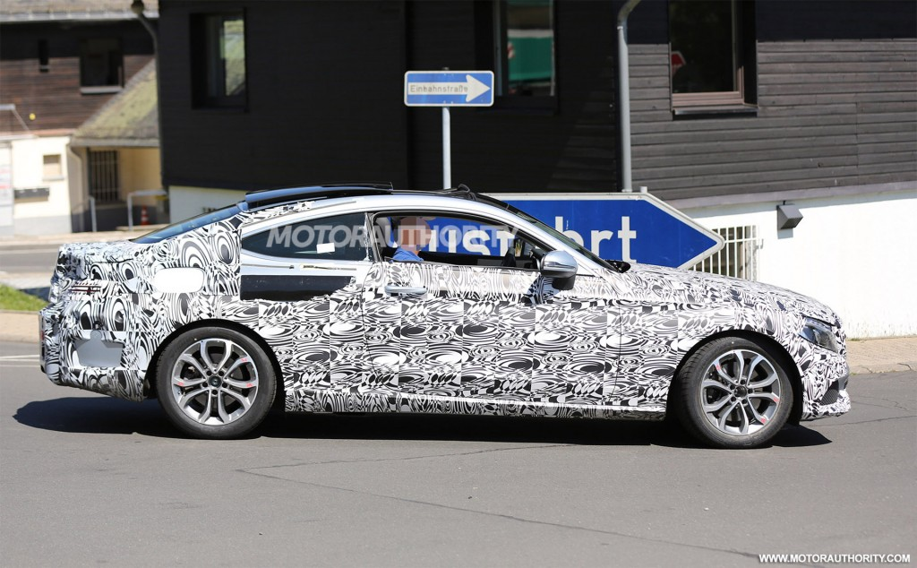 2017 Mercedes Benz C Class Coupe spy shots Image via S Baldauf SB