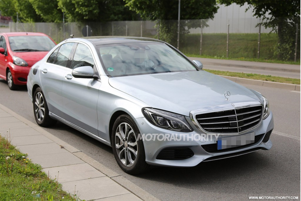 2016 mercedes benz c class plug in hybrid spy shots