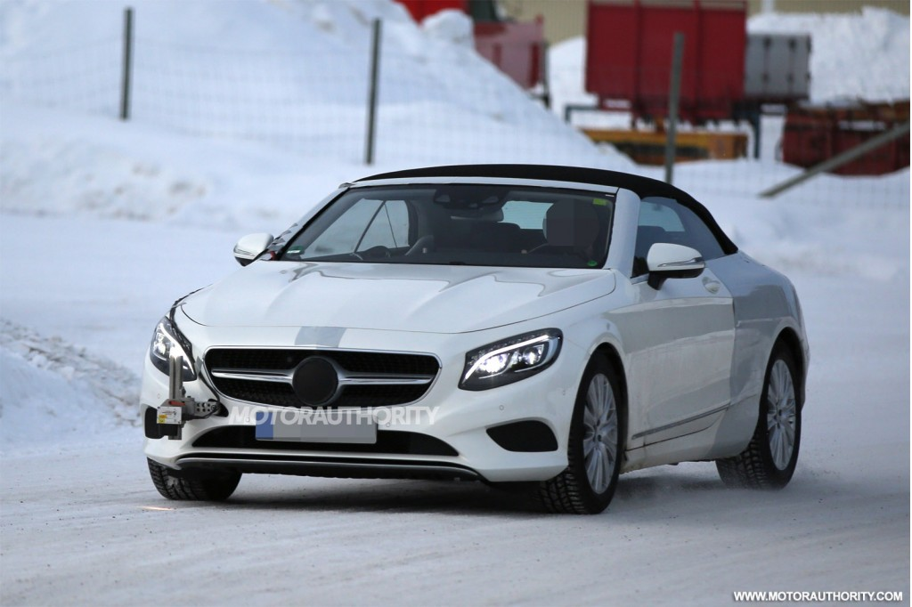 2016 mercedes benz s class cabrio spy shots. Black Bedroom Furniture Sets. Home Design Ideas