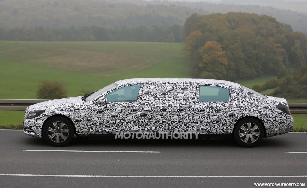 2016 mercedes maybach s600 pullman spy shots with interior for Mercedes benz pullman