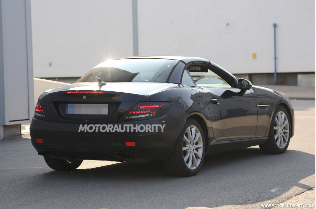2016 mercedes benz slc slk class facelift spy shots for 2016 mercedes benz slk class msrp