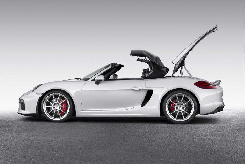 2016 porsche boxster spyder offers 375 horsepower top down fun live photos. Black Bedroom Furniture Sets. Home Design Ideas