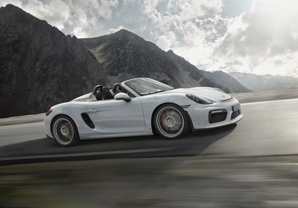 2016 porsche boxster spyder offers 375 horsepower top. Black Bedroom Furniture Sets. Home Design Ideas