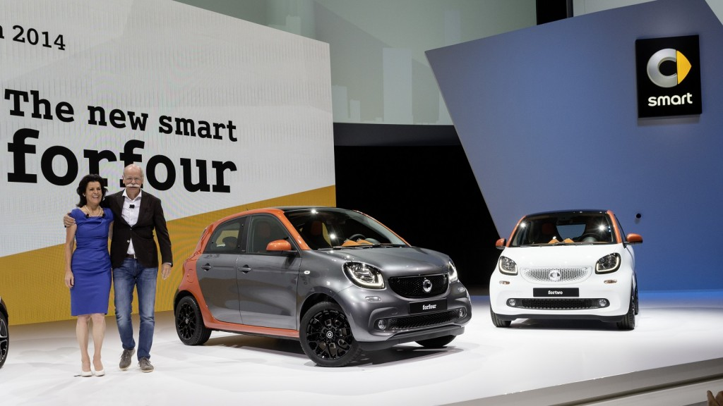 ... and Smart ForFour (European models), global launch, Berlin, July 2014