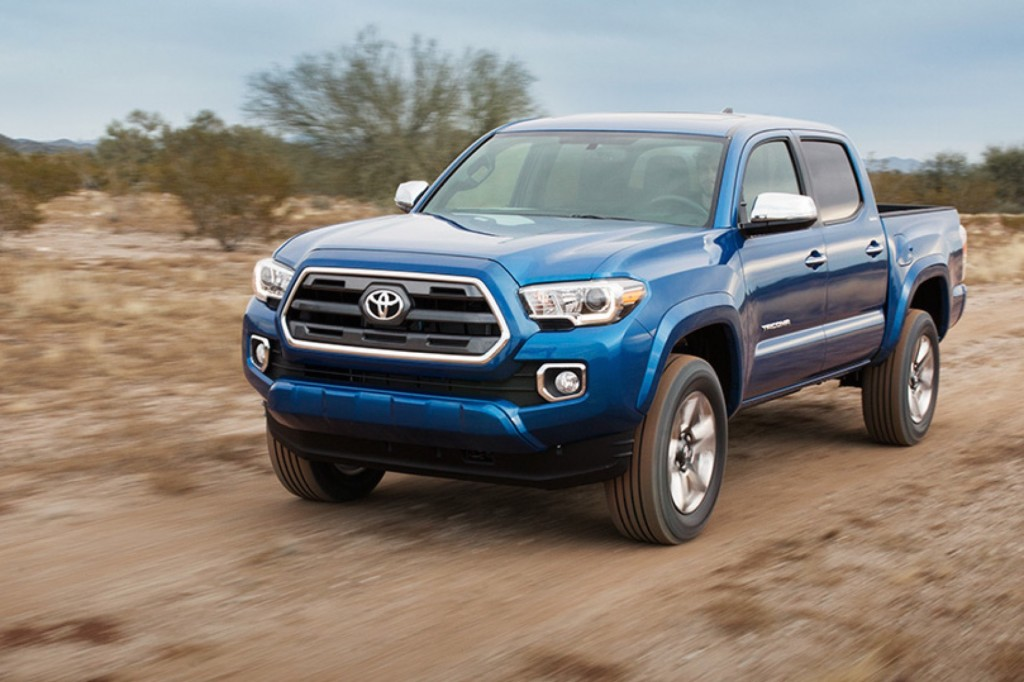 2016 toyota tacoma first look at redesigned mid size truck. Black Bedroom Furniture Sets. Home Design Ideas