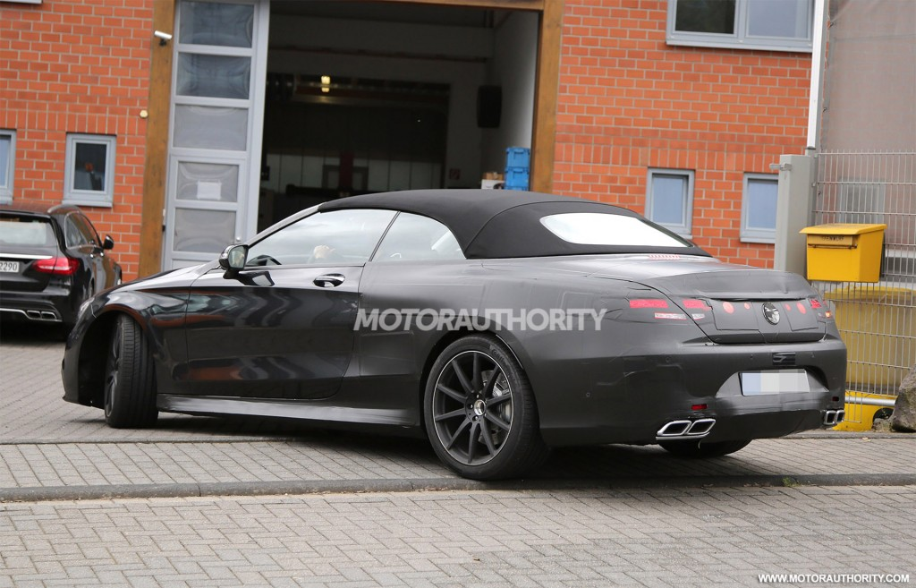 2017 mercedes amg s63 cabriolet spy shots. Black Bedroom Furniture Sets. Home Design Ideas