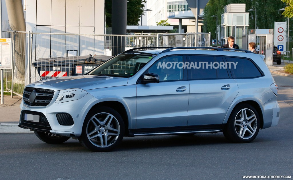 2017 mercedes benz gls spy shots