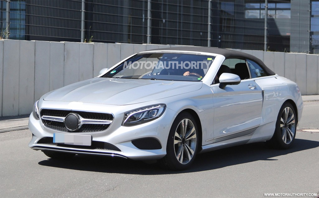 2017 mercedes benz s class cabriolet spy shots. Black Bedroom Furniture Sets. Home Design Ideas