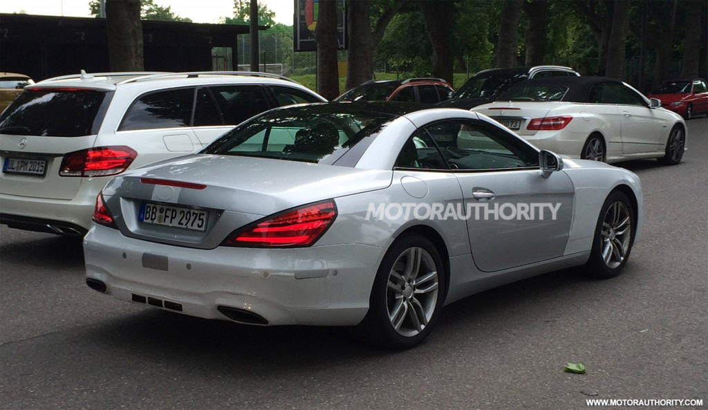 spy shots image via yihan zhao 2017 mercedes benz sl spy shots image