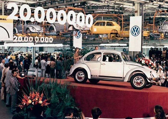 a history of the production of volkswagen beetle Vw beetle history here you will find information on the history of the vw beetle war started before large-scale production of the volkswagen started.