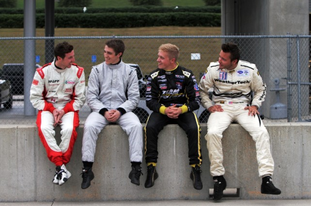 Academy participants Marcelli, Johnston, Pigot and MacNeil - image: Porsche